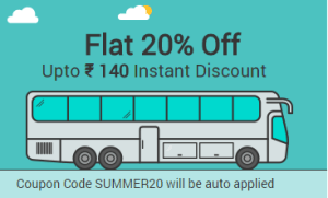 Railyatri – Get flat 20% Off Upto Rs.140 instant discount on booking bus tickets