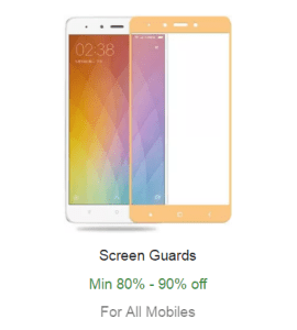 tempered screen protectors for mobile phones at Rs 190 80 off
