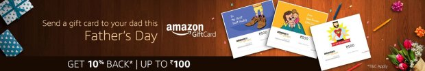 AMAZON GIFT CARD FATHER's DAY