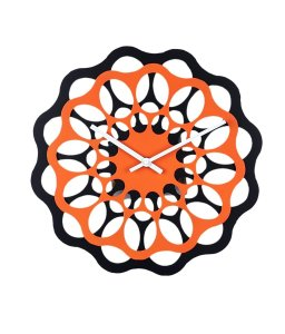 Amazon- Buy Basement Bazaar Designer MDF Wall Clock (30cm x 30cm,Orange) for Rs 444