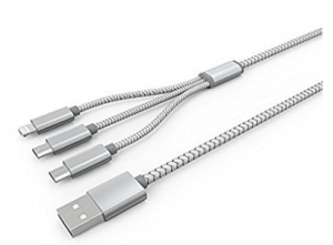 BlueRay JTP (3 in 1) Fast Charging & High Speed Data Sync Lightning to USB Cable