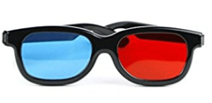 DOMO CM230B nHance for Anaglyph 3D Video Passive 3D Glasses