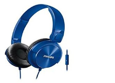 Philips Dj Style Monitoring Headphone With Mic (Blue)