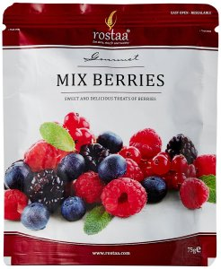 Rostaa Mix Berries Standup Pouch, 75g for Rs 113