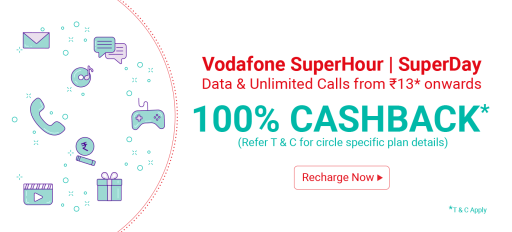 Vodafone SuperHour SuperDay Phonepe