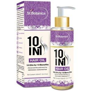 Amazon- Buy St.Botanica 10 In 1 Hair Oil (Jojoba, Almond, Castor, Olive, Rosemary, Grapeseed Oil & more) 100ml for Rs 339