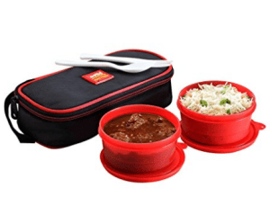 Cello Max Fresh Super Polypropylene Lunch Box Set, 300ml24cm, Set of 2, Red at rs.232