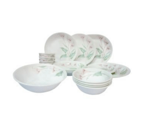 Corelle Asia LillyVille Dinner Set, 21-Pieces at rs.5,510