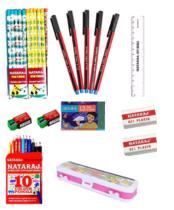 Paytm- Buy Nataraj Class Combo (20 Pencil, 5 Pen, 2 Sharpener, 2 Eraser, 1 Crayon, 1 Colour, 1 Scale, Geometry Box) at Rs 98