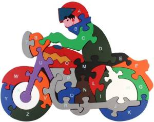 Pigloo Wooden Bike Puzzle Toy (26 Pieces) for Rs 299 only