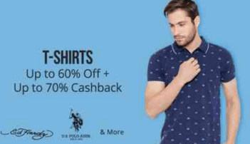paytmmall t shirts upto 60% off