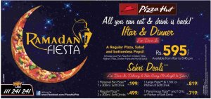 Pizza Hut Iftar Deal and Sehri Deal 2012