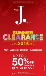 Junaid Jamshed Sale October 2015 Summer Clearance