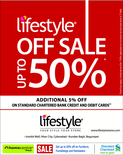 LIFESTYLE SALE UPTO 50% OFF ON fashion wear and ...