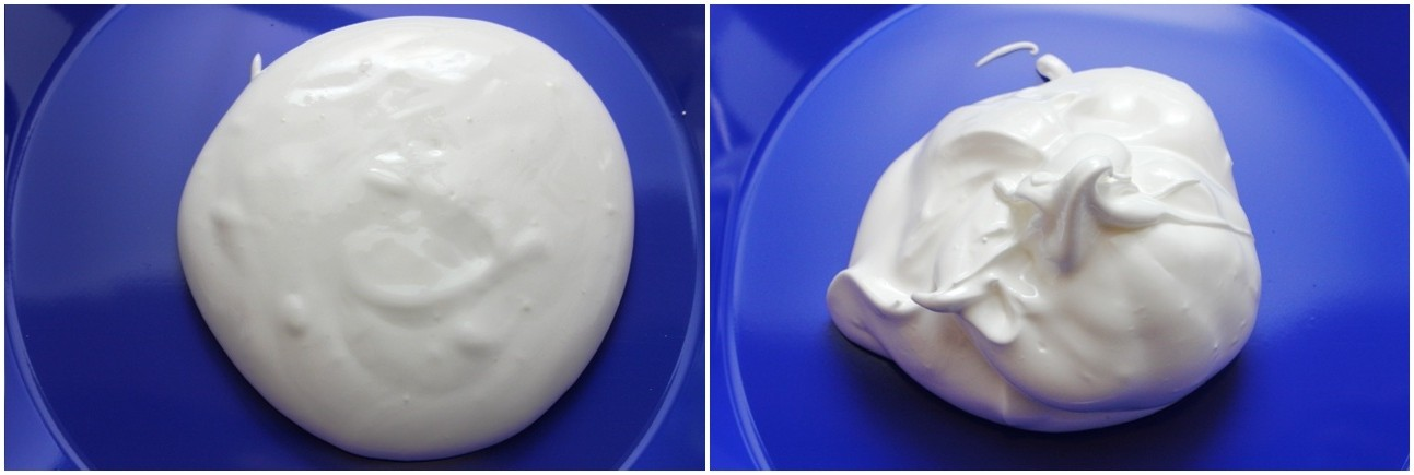 Egg Foam (with sugar at start; at end)