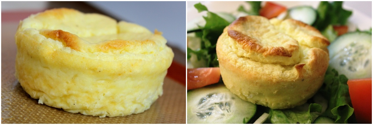 Souffle before + after 2nd bake