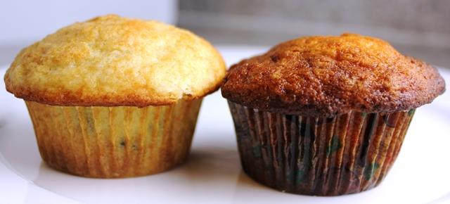 Muffins (Control v Baking Soda)