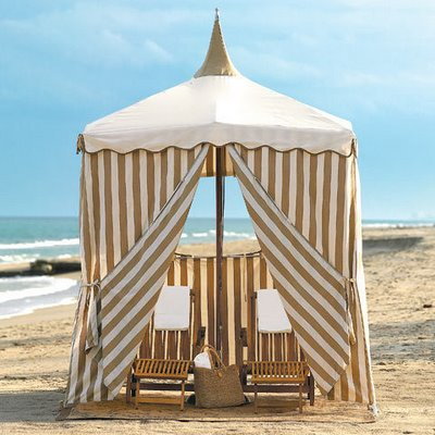 cabanas on the beach by the sea blog