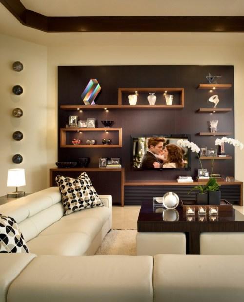Medium Of Wall Shelves Living Room