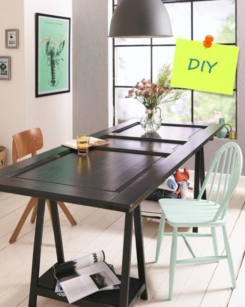Transformar una vieja puerta en mesa de comedor 1