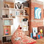 Cajas de madera para fruta para hacer estanterías de pared