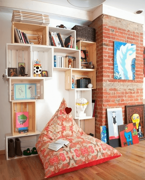 Estantes Para Baño Economicas:Cajas de madera para fruta para hacer estanterías de pared