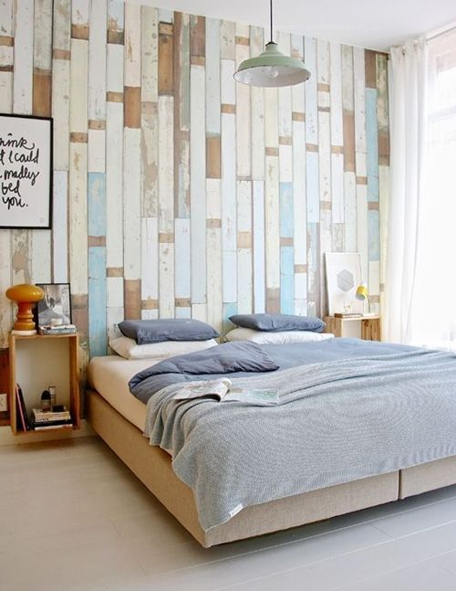 Cosas hechas con palets esta vez les toca a las paredes for Decoracion en madera para paredes