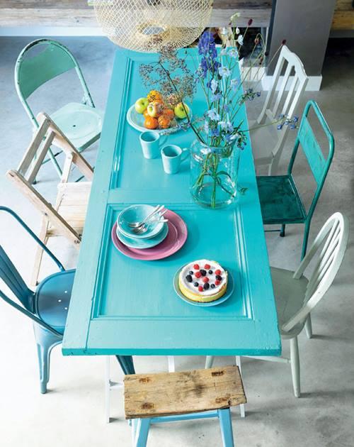 Ideas para reciclar muebles mesas espejos y cabeceros a for Mesa comedor espejo