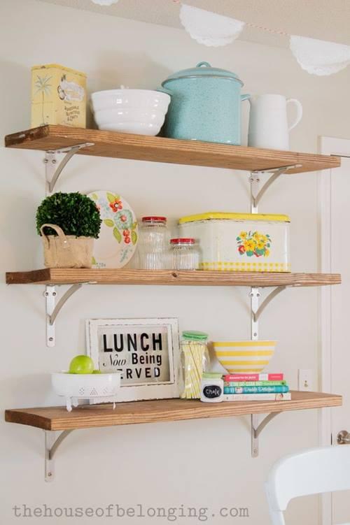 estanter as de madera baratas para cocinas con encanto