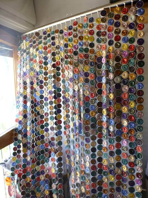 C mo hacer cortinas con c psulas nespresso paso a paso - Cortinas de abalorios ...