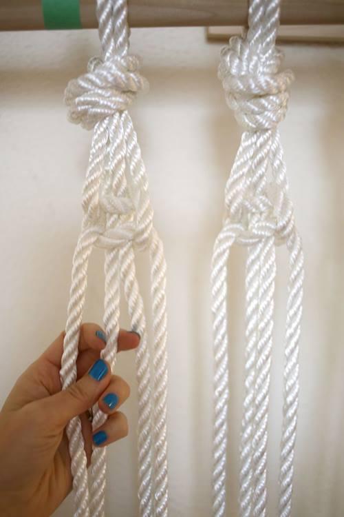 C mo hacer cortinas de macram paso a paso decomanitas for Como hacer ganchos para cortinas