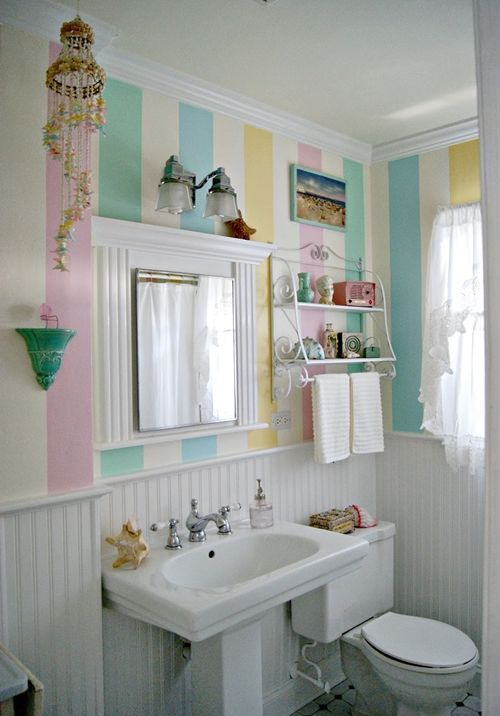 Decoración de cuartos de baño pequeños con ideas vintage 9
