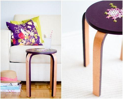 TUNEANDO TABURETES IKEA | Reciclando