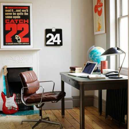 home office decor and wall decoration in vintage style pictures for