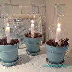 glass chinmey candle holders