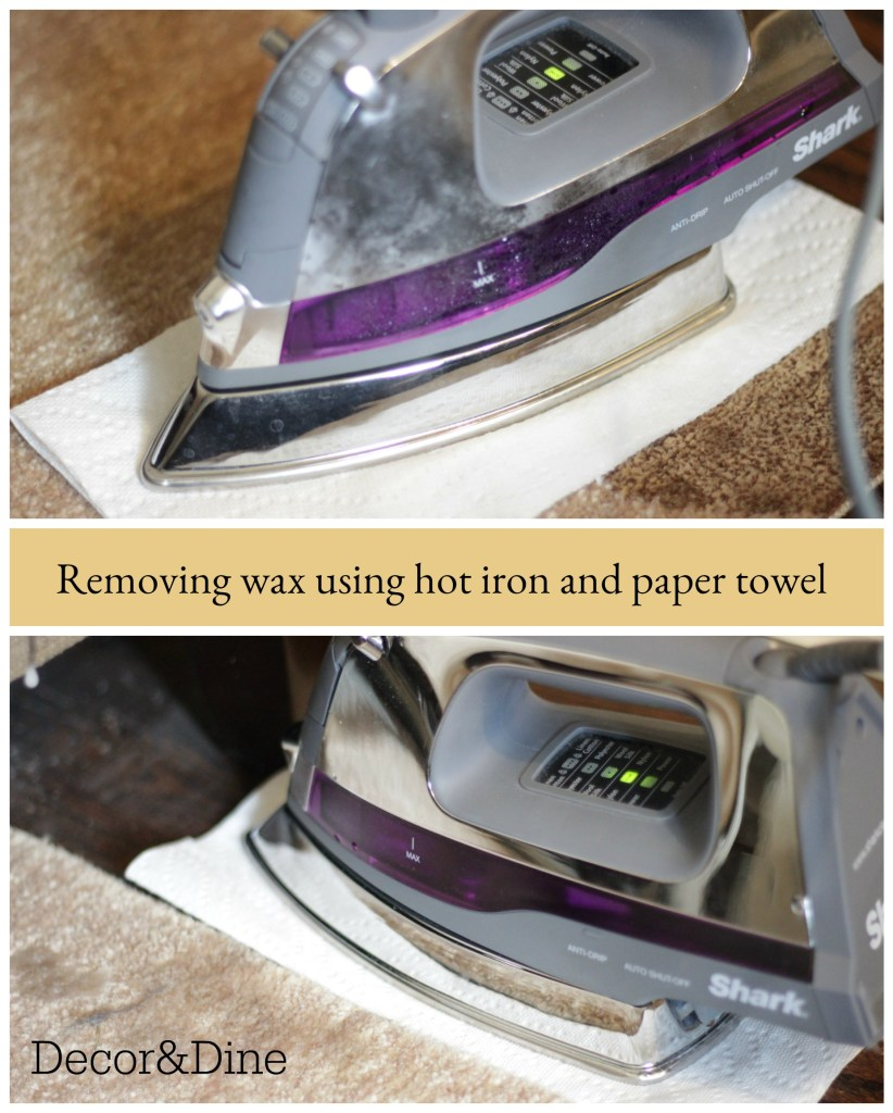 removing wax from floor and rug
