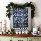 Christmas blackboard and hot chocolate station