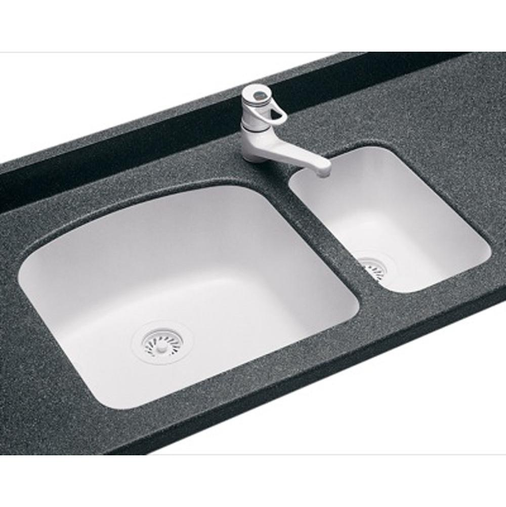 Sinks Kitchen sinks Undermount v white undermount kitchen sink 00 00