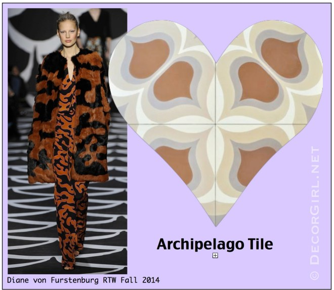 DVF Fall 2014 and Archipelago Tile