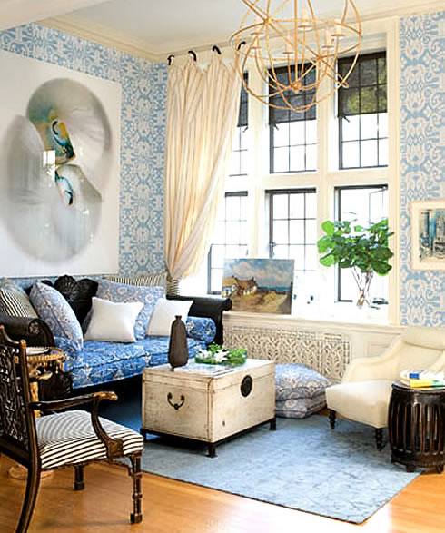 Quadrille Fabrics Ikat wallpaper