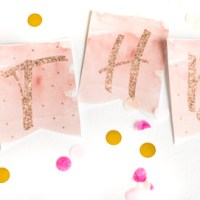 Geburtstag in Roségold - Happy Birthday Printable