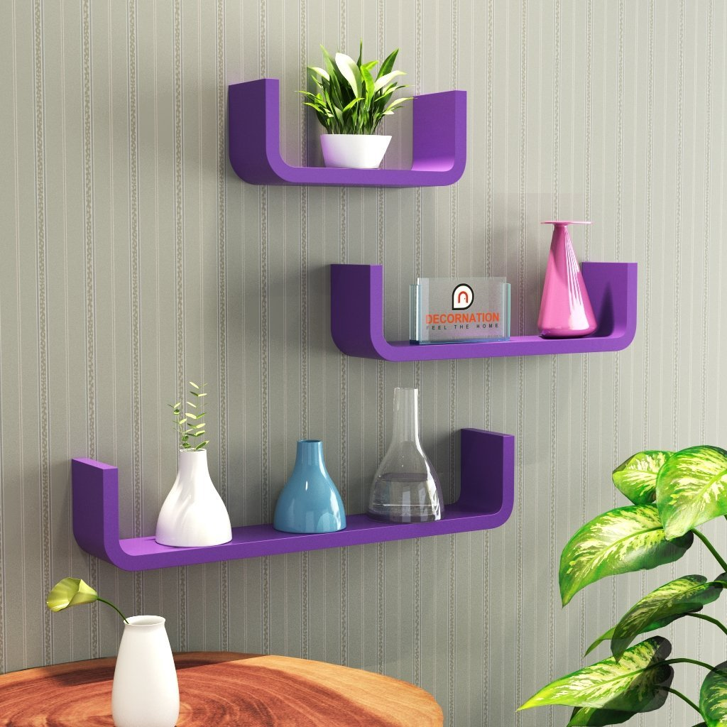 Comfortable Interior Design Wall Shelves Online Low Price Wall Shelf Set Shape Round Floating Wall Racks Purple Interior Design Wall Shelf Interior Design Bedroom Shelf interior Interior Design Wall Shelves