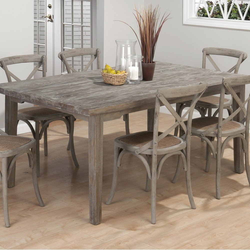 burnt grey coastal rectangle dining table rectangle kitchen table Burnt Grey Coastal Rectangle Dining Table 72