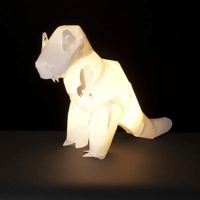 Origami T-Rex lampe à poser dino