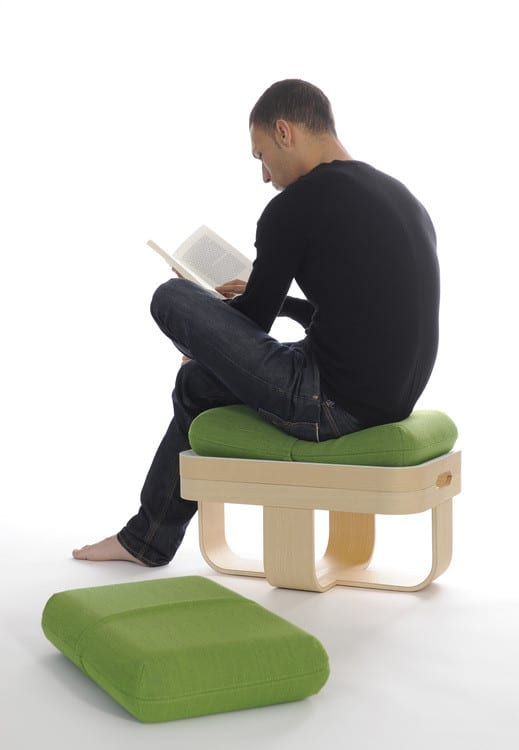 Mister t la table basse transformable by antoine lesur - Pouf repose pieds salon ...