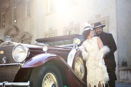 1920s Engagment Car