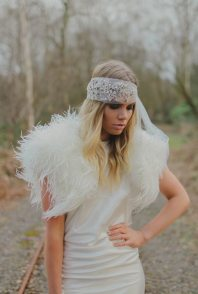 Sea Mist Boho Headband 1920s Headpiece
