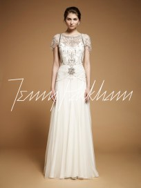 Vintage Style Wedding Gown || Jenny Packham Damask