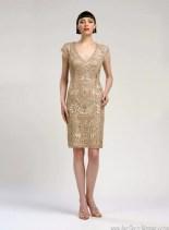 Sue Wong Art Deco Cocktail Dress N1436