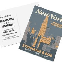 Vintage Travel Poster Save The Dates ~ Deco Weddings